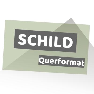 Schild ALU-Verbundplatte quer