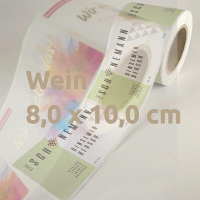 Weinetiketten 8 x 10 cm Rolle