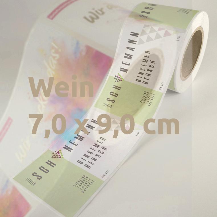 Weinetiketten 7 x 9 cm Rolle