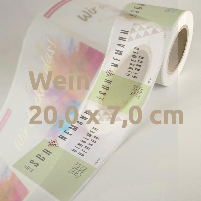 Weinetiketten 20 x 7 cm Rolle
