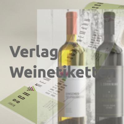 Weinetikett Verlagsvordruck mit Eindruck, Rolle 8×10 cm