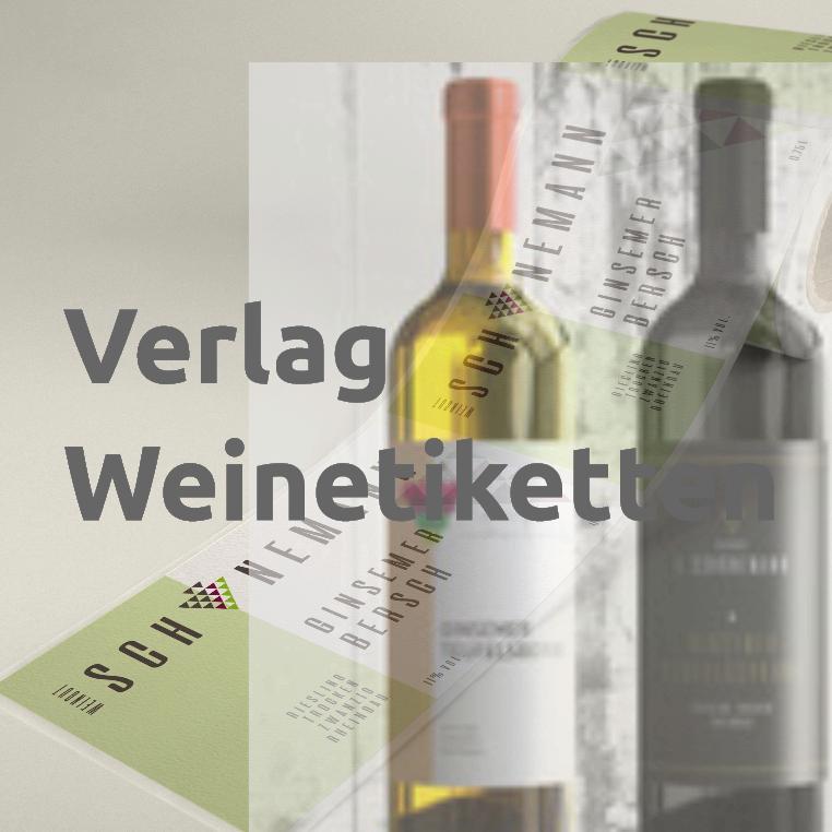Weinetikett Verlagsvordruck mit Eindruck, Rolle 8x10 cm