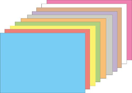Ablösbare Haftkleber 10 Papierfarben