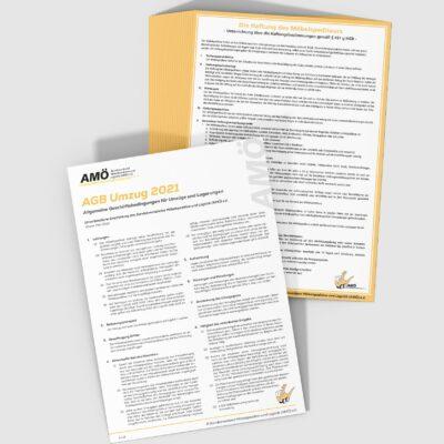AGB Umzug 2021 (AMÖ) und Haftung (AMÖ)