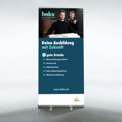 FMKU-Roll-Up AMÖ mit Firmeneindruck