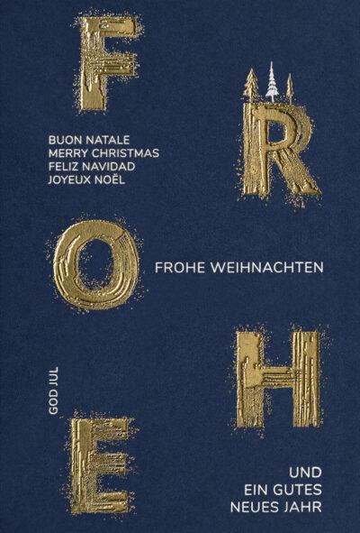 Weihnachtskarte 55905 mit individuell bedrucktem Einleger