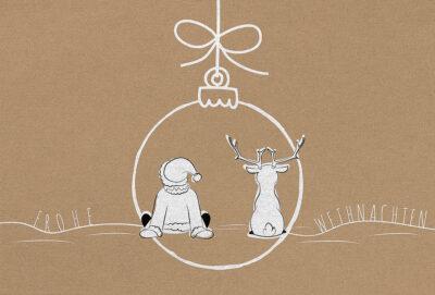 Weihnachtskarte 55913 mit individuell bedrucktem Einleger