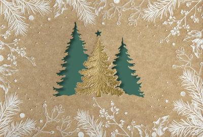 Weihnachtskarte 67107 mit individuell bedrucktem Einleger