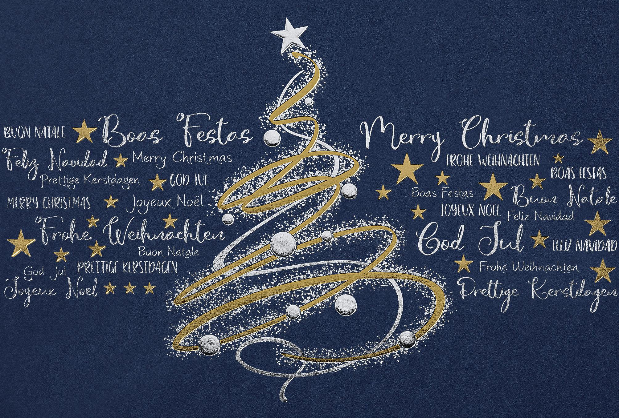 Weihnachtskarte 67112 mit individuell bedrucktem Einleger