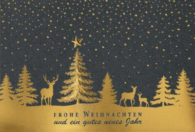 Weihnachtskarte 67125 mit individuell bedrucktem Einleger