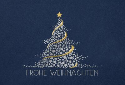 Weihnachtskarte 67146 mit individuell bedrucktem Einleger