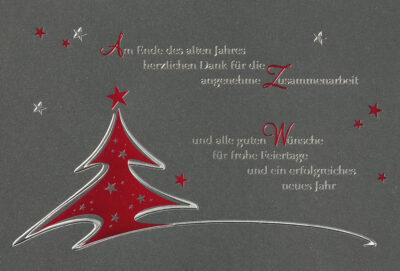 Weihnachtskarte 67152 mit individuell bedrucktem Einleger