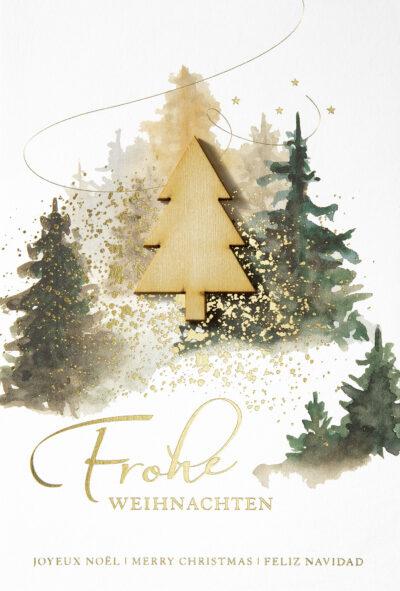 Weihnachtskarte 80108 mit individuell bedrucktem Einleger